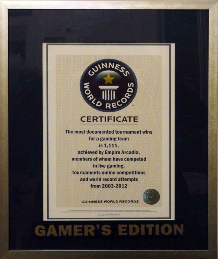 our guinness world record plaque