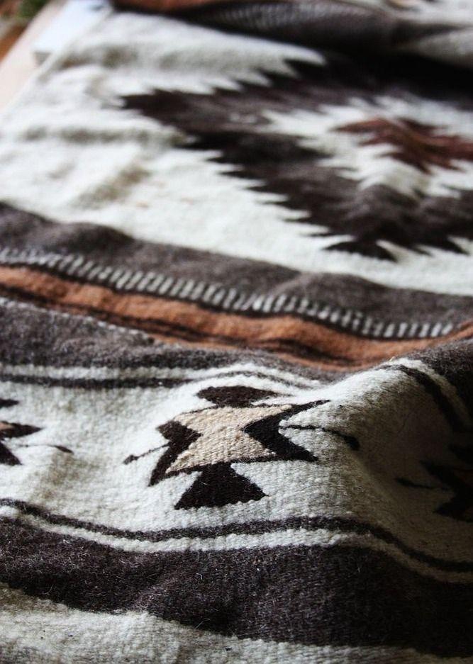 Aztec style blanket.