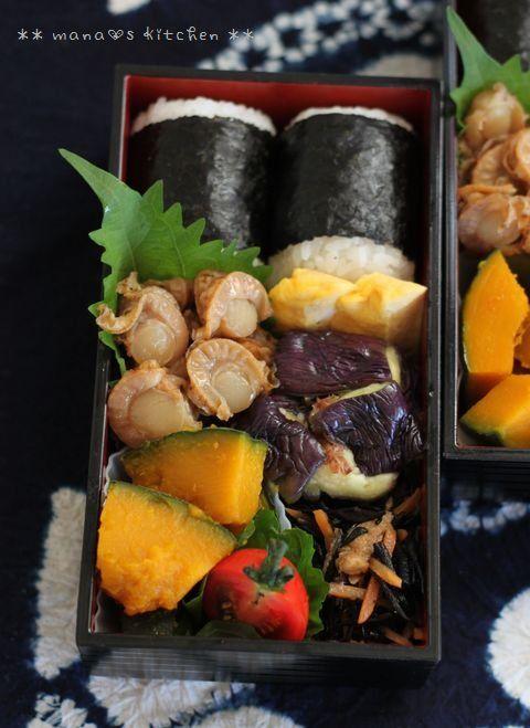Japanese Bento Boxed Lunch ベビーホタテのしぐれ煮弁当