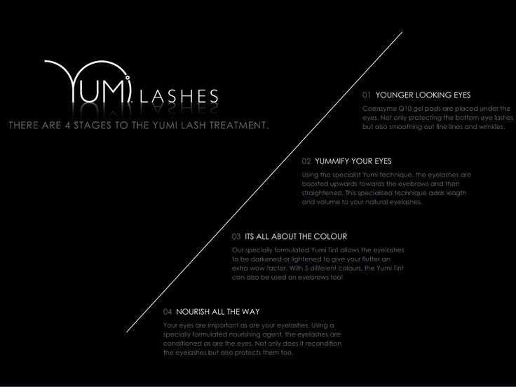 Yumi Lashes - Stages of Treatment