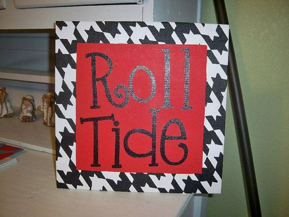 Canvas houndstooth painting