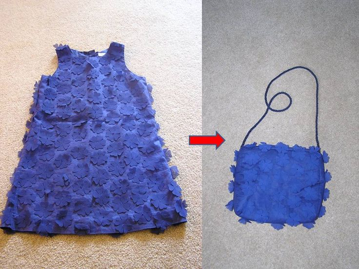 My daughter loved this pretty dress and was really upset when she grew out of it so I've turned it into a lovely bag for her!