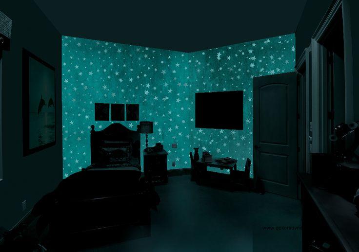 Detská izba -  MAGIC LIGHT - fosforujúci náter