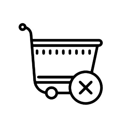 Clear Shopping Cart Icon This page contains the vector icon, as well as variations of this icon in different visual styles, and related icons. All icons are in the flat vector style, however, differ by the line thickness, fill, and corner radius.