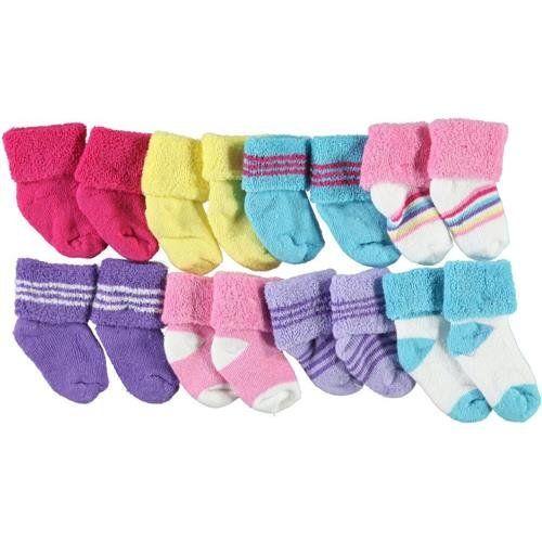 Luvable Friends Baby 06 Months Socks  8 Pack Pink -- For more information, visit image link.