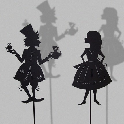 Silhouette PuppetsTeas For Two, Tattoo Ideas, Shadows Puppets, Mad Hatters, Alice In Wonderland, Laser Cut, Inspiration Pictures, Teas Parties, Aliceinwonderland