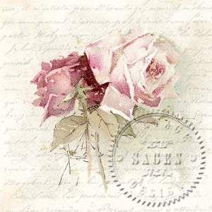 Serwetka papierowa - Vintage rose poem - 06080