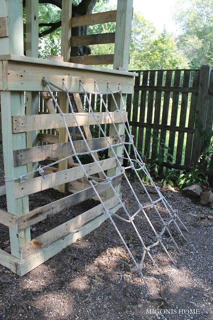 Pallet playground in outdoor kids diy  with playground