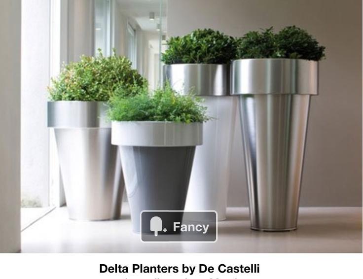 Fancy   Delta Planters By De Castelli
