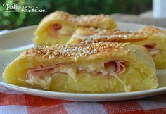 Rustico con patate mortadella e formaggio ricetta facile buonissimo goloso e velocissimo, ideale per uno spuntino antipasto, finger food aperitivo e buffet