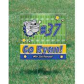 Football Field Yard Sign