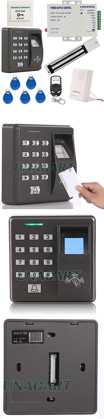 Intercoms and Access Controls: Fingerprint And Rfid Id Card Access Control Unit Kit W/ 600Lbs Force Magnetic Lock BUY IT NOW ONLY: $139.0