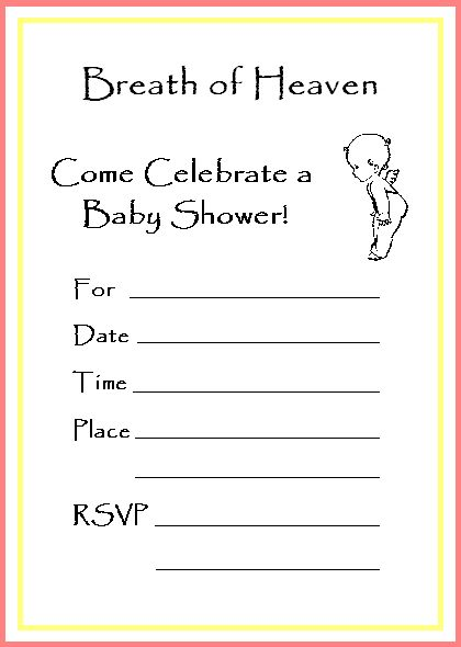 other printable baby shower invitations