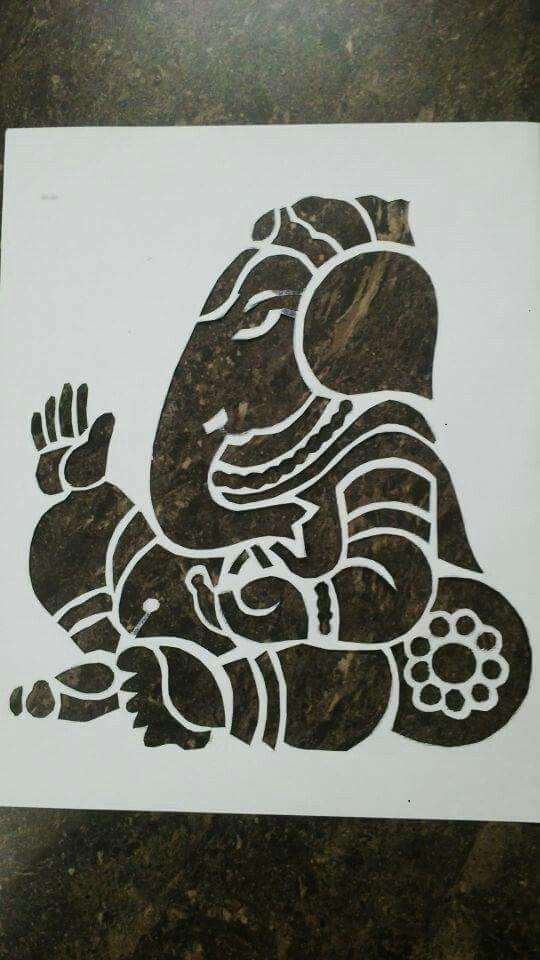 Ganesha | Sanjhi/Paper cutting | Madhubani art, Mehndi art ...
