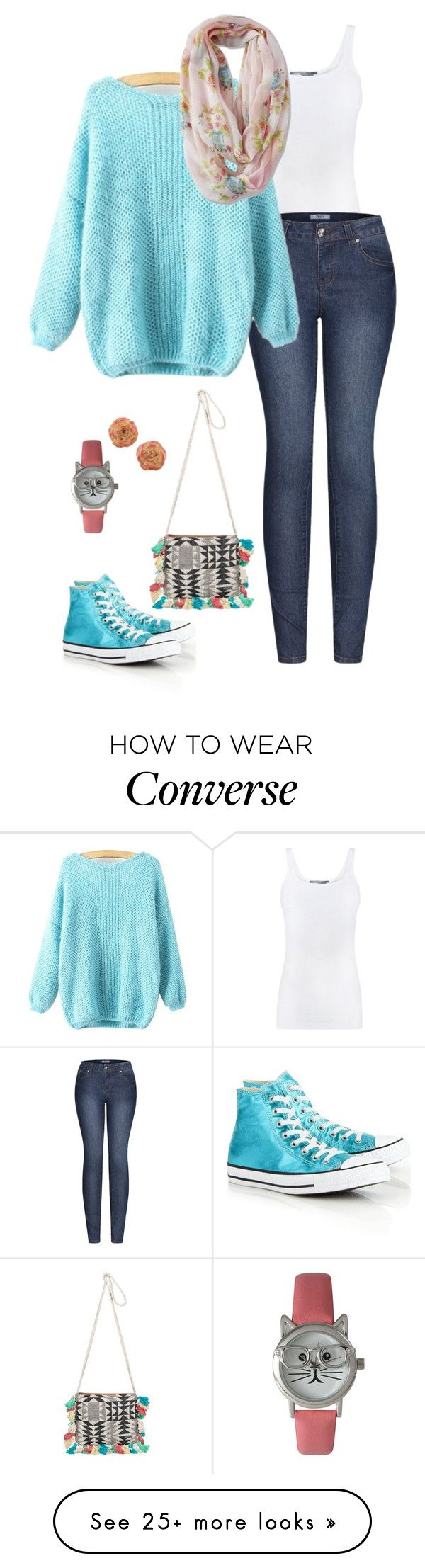 """""""Geen titel #879"""" by miriam-witte on Polyvore featuring Vince, 2LUV, Converse, Roxy, Olivia Pratt and NOVICA"""