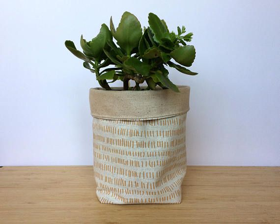 Stylish Plant Pot Fabric Soft Pot Housewarming Gift Organic