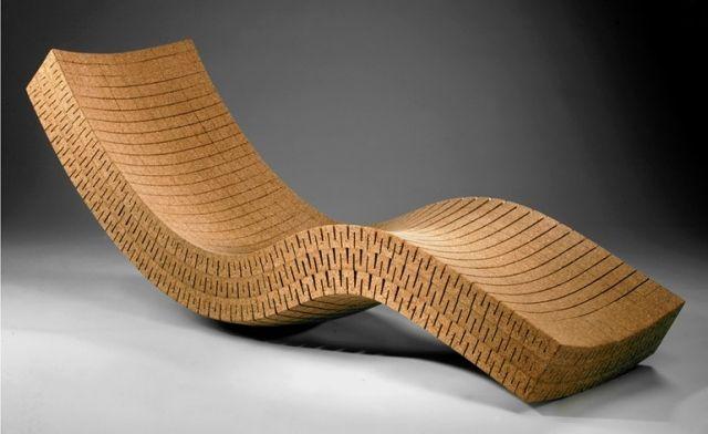 möbel moderner lounge-liegestuhl aus kork-cortica TopIdeas - cortica ergonomische relaxliege aus kork