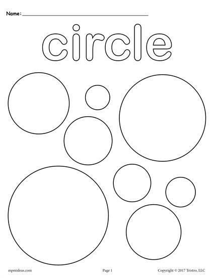 FREE toddler & preschool shapes coloring pages. Includes a circle coloring page plus 11 other shapes coloring worksheets. Get them all here --> http://www.mpmschoolsupplies.com/ideas/7544/12-free-shapes-coloring-pages/