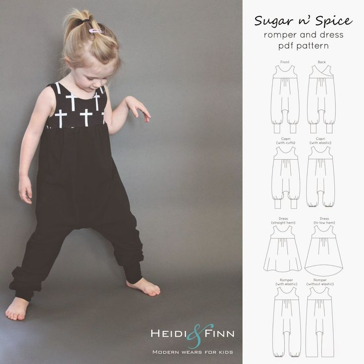 HeidiandFinn modern wears for kids: Sugar n' Spice dress and romper pattern release + tester roundup
