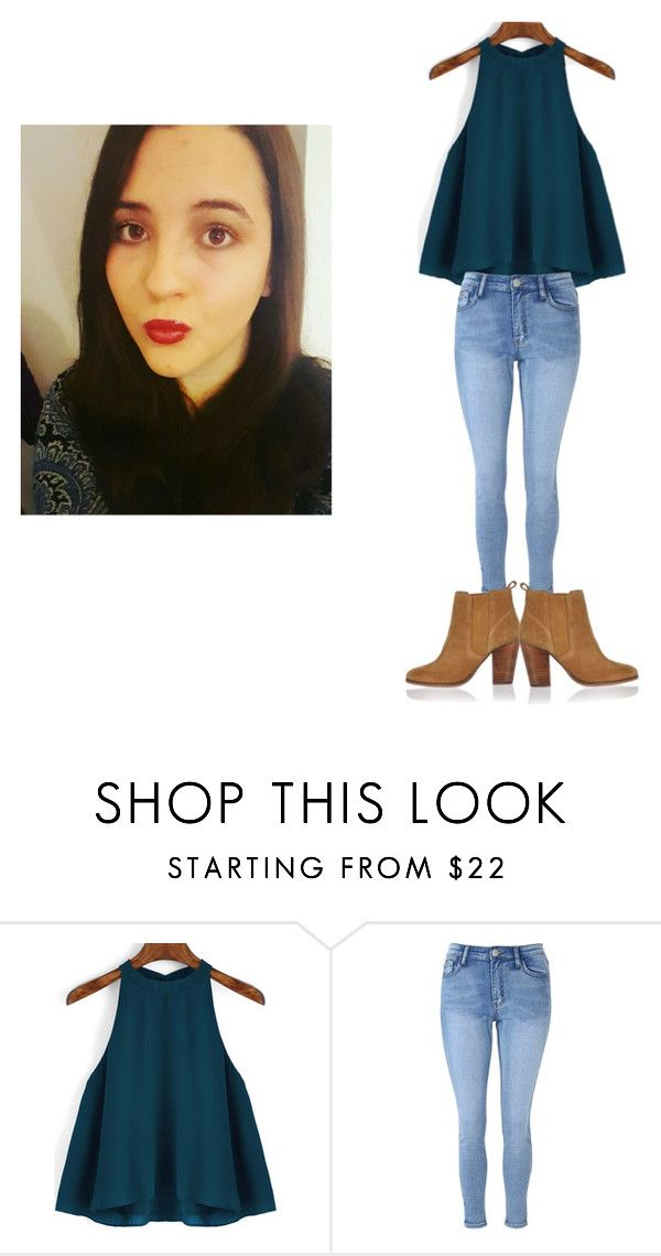 """""""My Easter Sunday Outfit"""" by megsiehowell ❤ liked on Polyvore featuring Glamorous, River Island, eastersunday, easterweekend and anklegrazerjeans"""