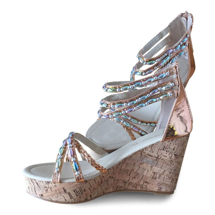 """TESS"" Rose Gold 102 USD WWW.CARIBBYSHOES.COM"
