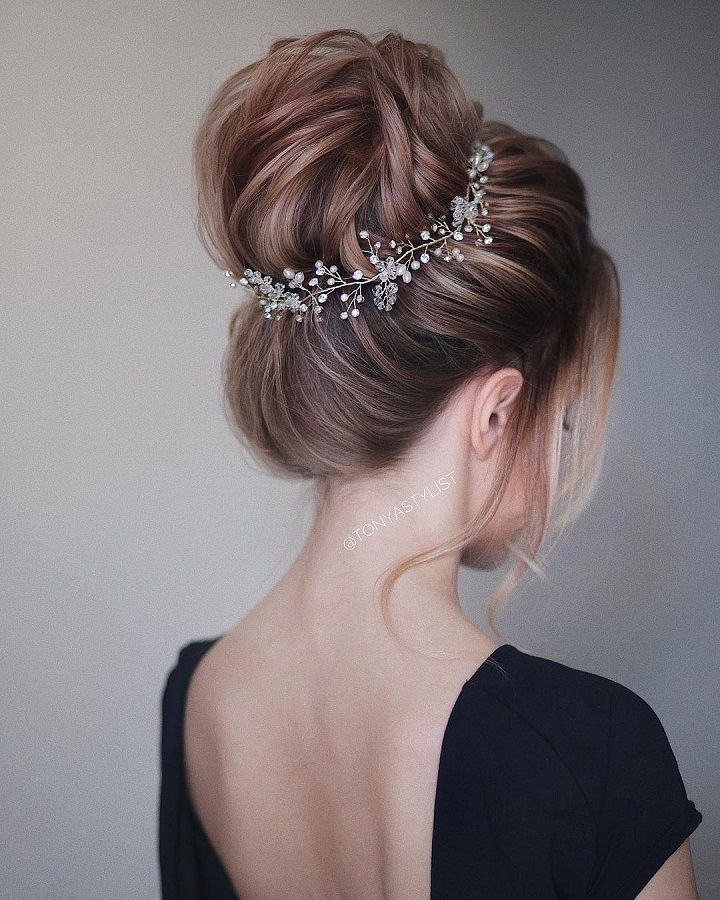 Chic wedding hair updos for elegant brides - #breed #selegante #upporting #wedding #school