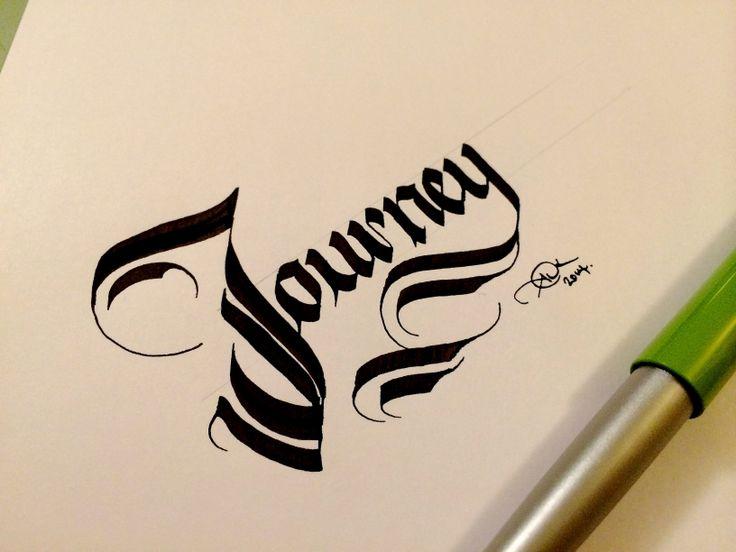Focusing on the journey. #makedaily #calligraphy #fraktur #lettering #handlettering #customlettering
