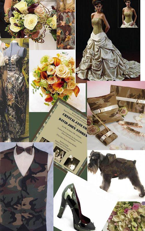Camo Wedding Centerpieces | WeddingLoco: Camouflage Wedding Theme
