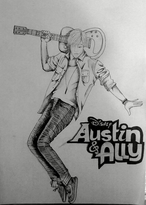 Disney channel austin and ally free coloring pages for Austin and ally coloring page