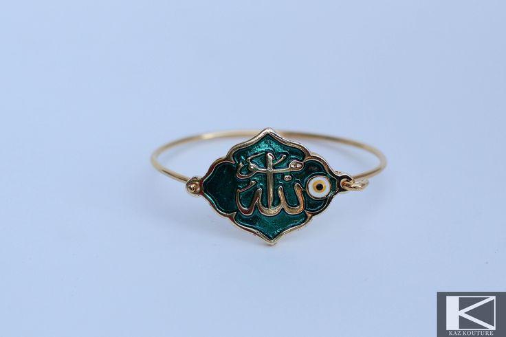 "KAZ KOUTURE: Oblong Allah ""God"" Bangle #kazkouture #fashion #bracelet #goldplated #jewelry #accessories #armcandy #princess #fashionista #turkish #arabiccalligraphy #muslimfashion #abaya #hijabi #hijab #arabfashion #scarf #muslim"