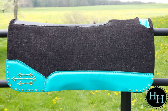 Turquoise & Gold Arrow Best Ever saddle pad designed by Horses & Heels