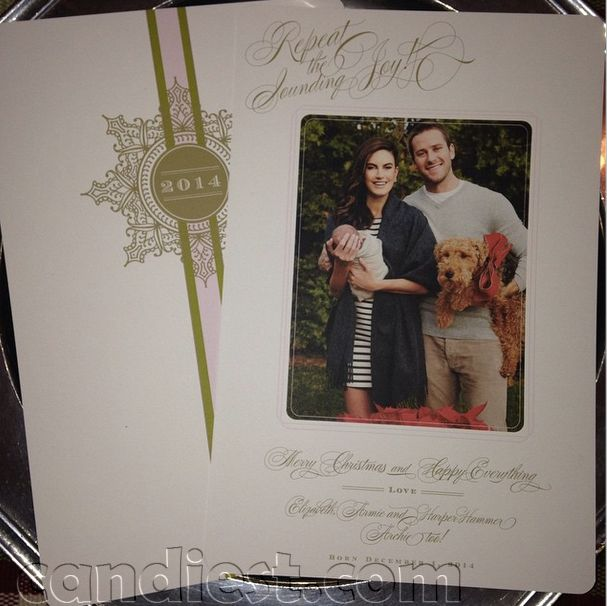 Armie Hammer, wife and baby #Christmascard