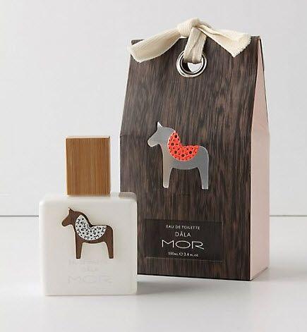 horse motif package design