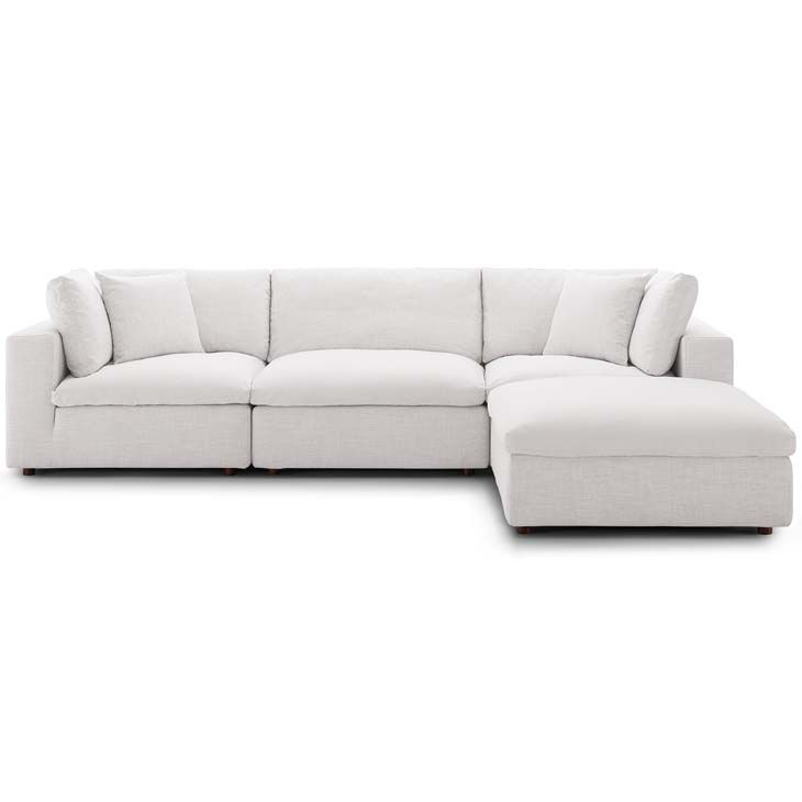 Jack Down Filled Sofa With Chaise Taupe Eclectic Goods