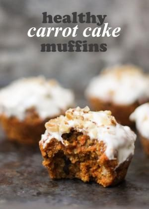 Yes, you can now have carrot cake for breakfast thanks to these healthy carrot cake muffins! Under 200 calories and full of good for you ingredients! by michele