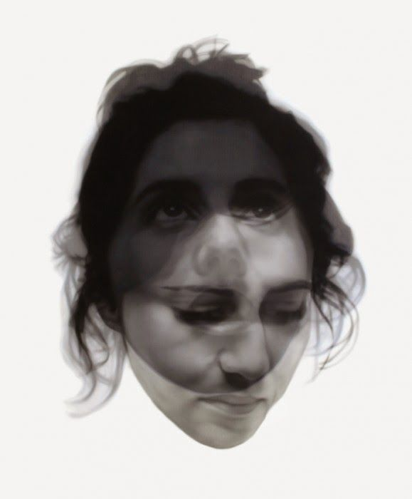 double exposure paintings by sergio luna