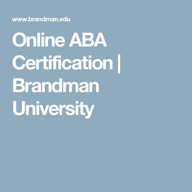 Online ABA Certification   Brandman University