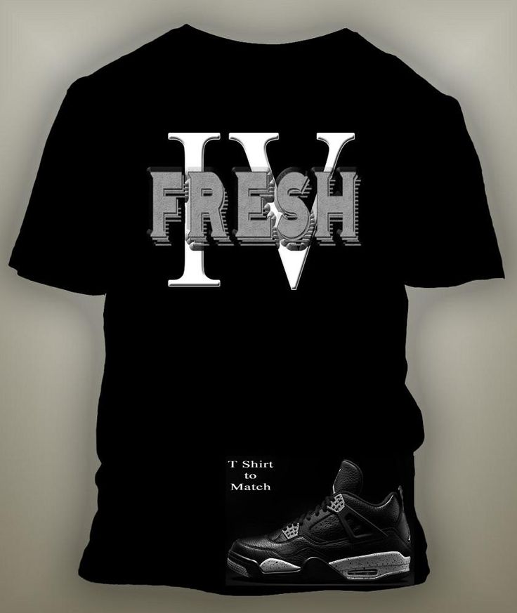 Graphic T Shirt To Match Retro Air Jordan 4 Oreo Shoe