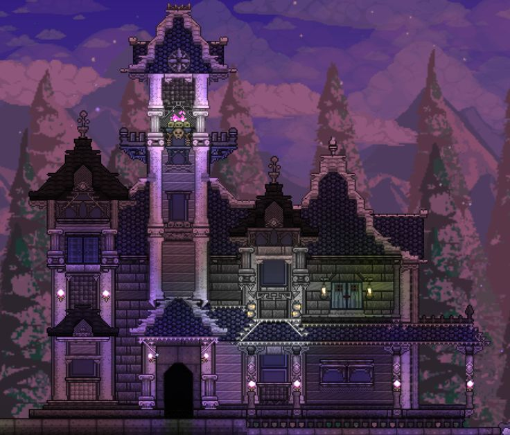 Mansion House Designs: Terraria House Design, Terraria House
