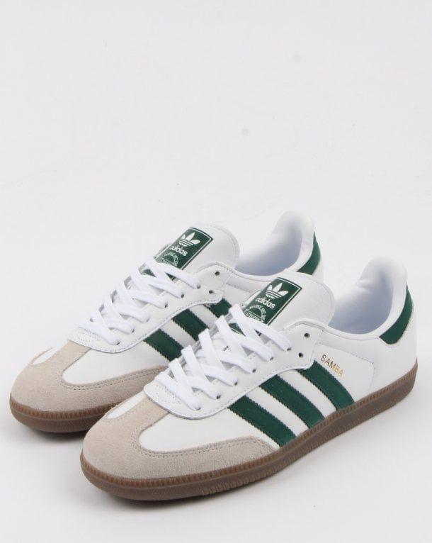 Adidas Samba Og Trainers White/collegiate Green | Adidas ...