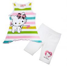 set tricou-colant kitty - alb