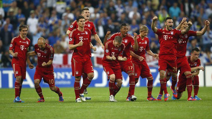 bayern celebra ganar tanda de penales