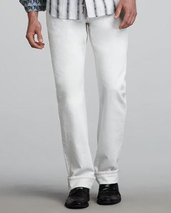 Basic denim is fine for men with basic styles, but you need something more-and that's just what these Robert Graham jeans deliver. Their premium denim construction is packed with signature... More Details