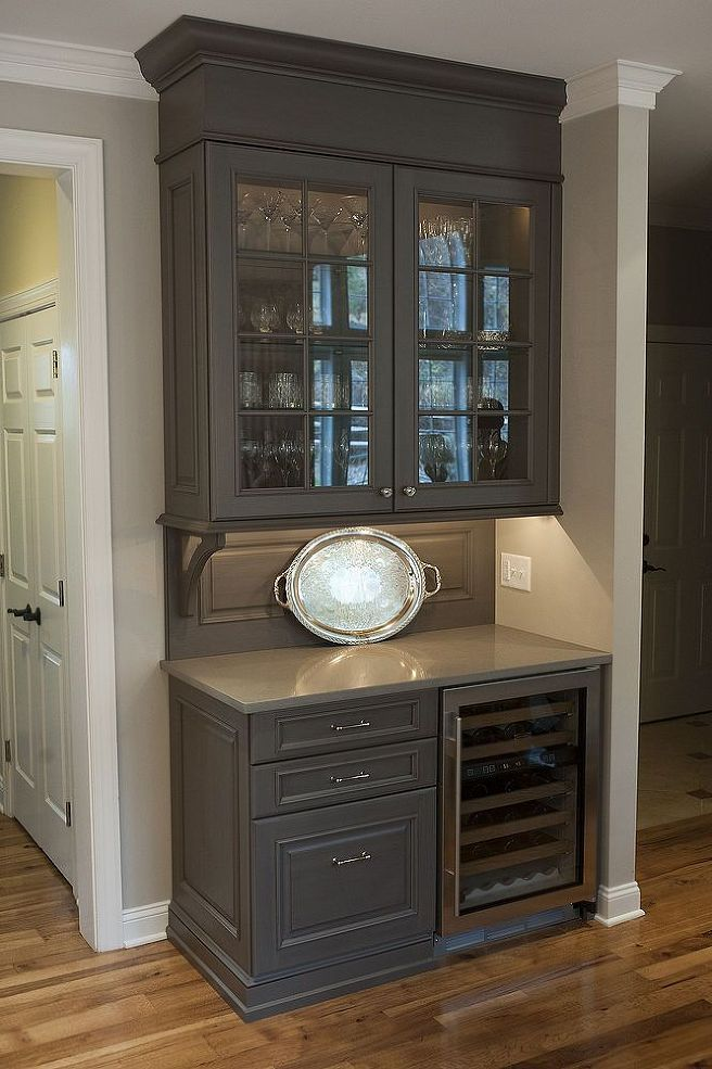 For the Wine fridge and kegorator To DIY with a desk/cabinets for a wet bar in the dining room