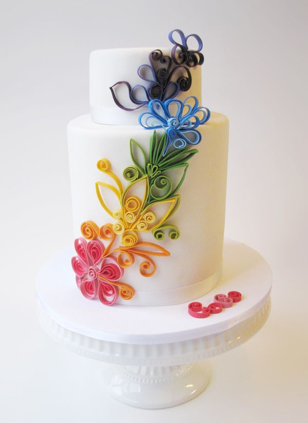 Cake Decorating Quilling : 110 best Quilling Cakes images on Pinterest Quilling ...
