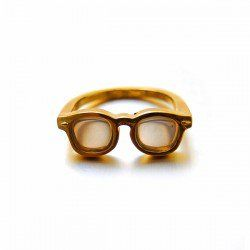 arenot|Lilou(リル)COLOR MEGANE RING #17 gold(カラー メガネ リング 17号 ゴールド)