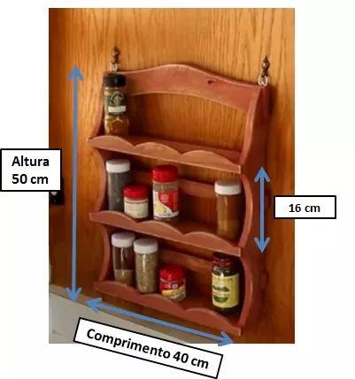 prateleira rustica de madeira parede orginizador condimentos