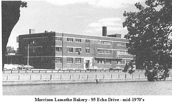 Morrison Lamothe Bakery - 95 Echo Drive. I still remember going to there to pickup day old bread, and Vachon Cakes (Half Moons, Joe Louis etc.