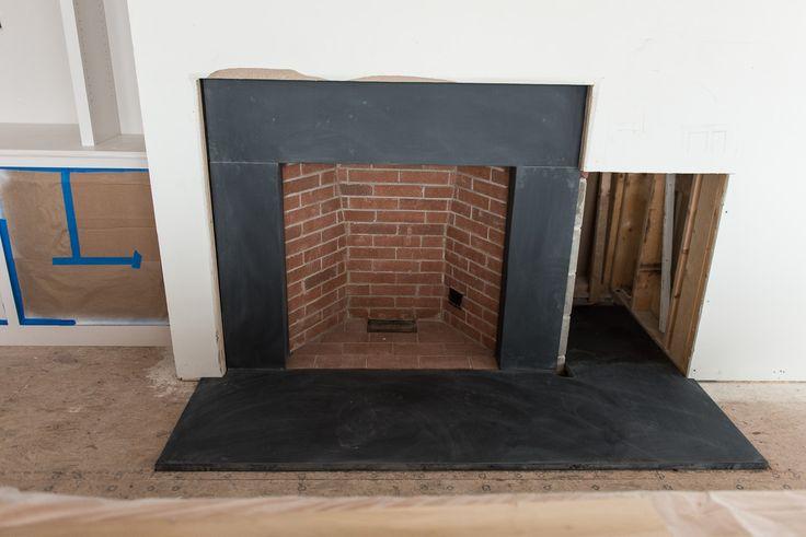 Black Slate Fireplace Surround