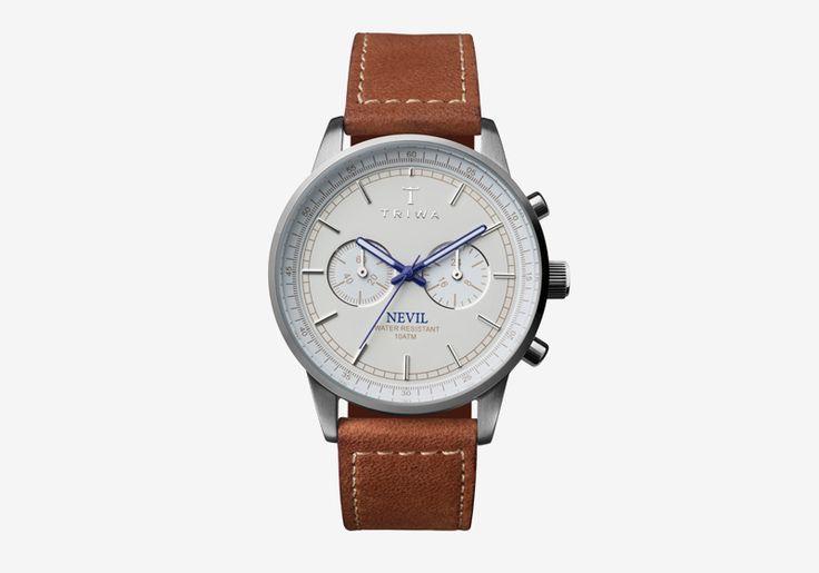 Hodinky Triwa — Ivory Nevil — dámské a pánské — hnědý náramek, bílý ciferník — luxusní, náramkové  #triwa #watches #hodinky #luxury #mens #womens